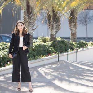Zara Wide Leg Culottes with Tie Waist Size 2 NWT